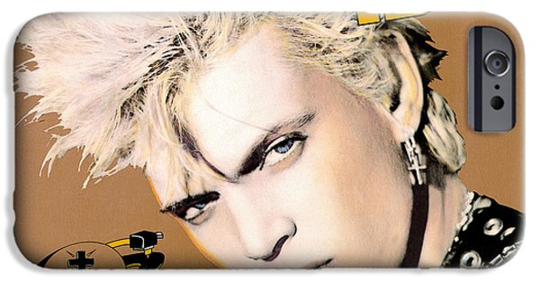Eighties iPhone Cases - Billy Idol - Whiplash Smile 1986 iPhone Case by Epic Rights