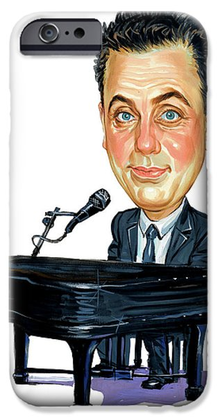 Art iPhone Cases - Billy Joel iPhone Case by Art