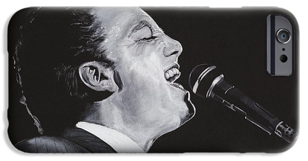 Piano Pastels iPhone Cases - Billy Joel iPhone Case by Kenneth  Williams