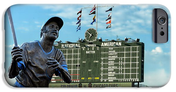 Wrigley iPhone Cases - Billy Williams Chicago Cub Statue iPhone Case by Thomas Woolworth