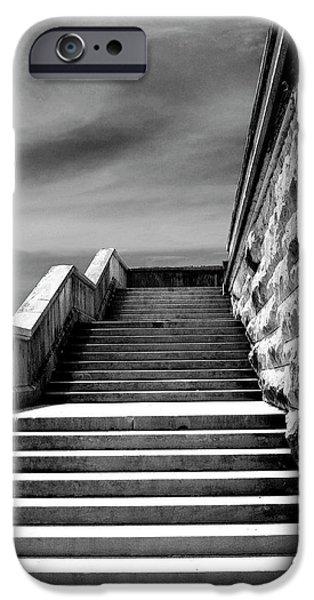 BILTMORE STAIRS Asheville NC iPhone Case by William Dey