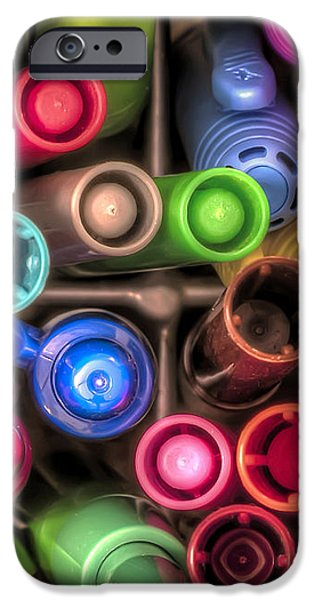 Bin Full of Markers iPhone Case by Scott Norris