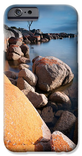 Stopper Photographs iPhone Cases - Binalong bay at sunrise iPhone Case by Matteo Colombo