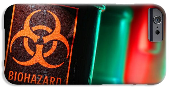 Sticker iPhone Cases - Biohazard iPhone Case by Olivier Le Queinec