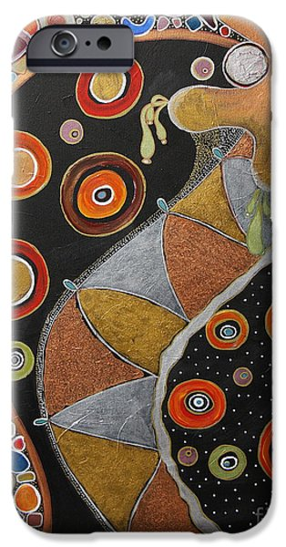 Biological Paintings iPhone Cases - Biological Rhythms.. iPhone Case by Jolanta Anna Karolska