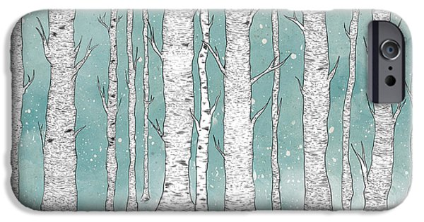 Birch Tree iPhone Cases - Birch Forest iPhone Case by Randoms Print