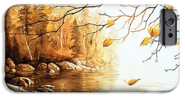 Tree Art Print iPhone Cases - Birch Island Mist iPhone Case by Hanne Lore Koehler
