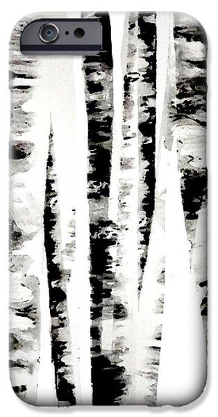 Birch Trees iPhone Case by Budi Satria Kwan