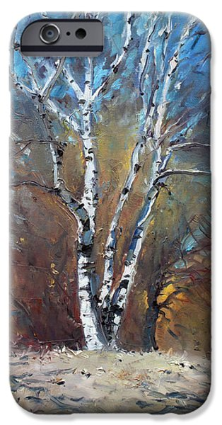 Recently Sold -  - Forest iPhone Cases - Birch Trees iPhone Case by Ylli Haruni