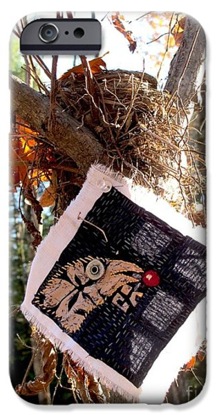Crows Tapestries - Textiles iPhone Cases - Bird and Berry iPhone Case by Linda Marcille