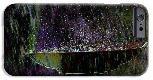 Rainy Day iPhone Cases - Bird Bath Explosion iPhone Case by David Yocum