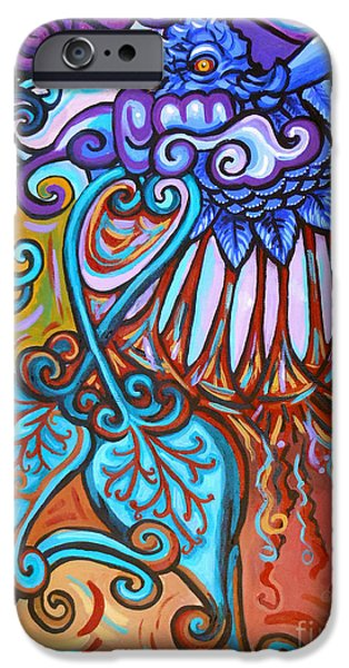 Gaia iPhone Cases - Bird Heart IV iPhone Case by Genevieve Esson