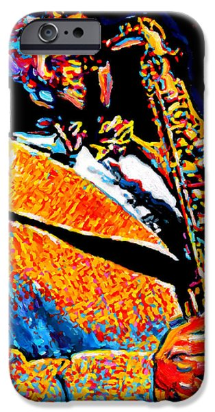 New Generations iPhone Cases - Bird Lives-Charlie Parker iPhone Case by Vel Verrept