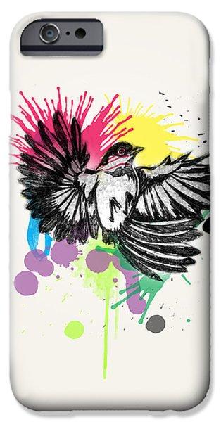 Surrealism Digital iPhone Cases - Bird iPhone Case by Mark Ashkenazi