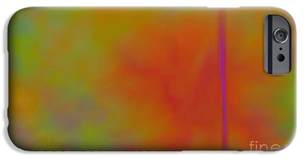 Abstract Digital Paintings iPhone Cases - Bird Of Paradise iPhone Case by Anita Lewis