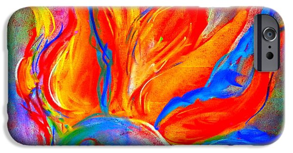 Loose Style Paintings iPhone Cases - Bird of Paradise Flower iPhone Case by Sue Jacobi