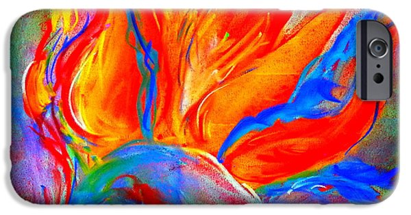 Pastel iPhone Cases - Bird of Paradise Flower iPhone Case by Sue Jacobi