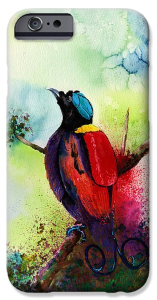 Art Forms Of Nature iPhone Cases - Bird of paradise  iPhone Case by Isabel Salvador