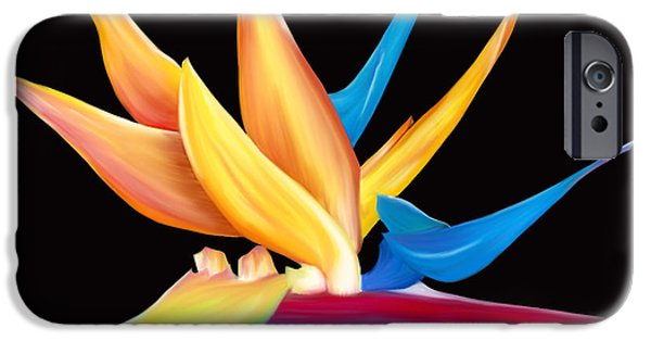 Flora Pastels iPhone Cases - Bird of Paradise iPhone Case by Laura Bell