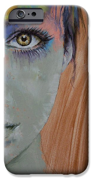 Michael Paintings iPhone Cases - Bird of Paradise iPhone Case by Michael Creese
