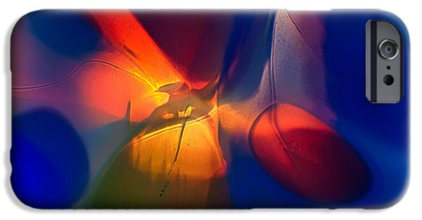 Fine Abstract Glass iPhone Cases - Bird on a Snowboard iPhone Case by Omaste Witkowski