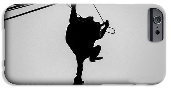 Coat Hanger iPhone Cases - Bird on a Wire iPhone Case by Dean Harte
