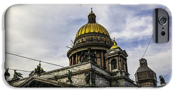 Russian Cross iPhone Cases - Bird Over St Basils Cathedral iPhone Case by Madeline Ellis