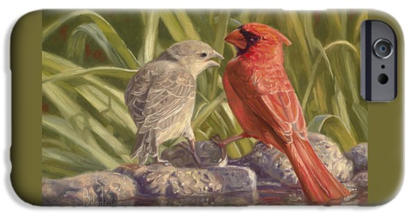 Young Adult iPhone Cases - Bird Talk iPhone Case by Lucie Bilodeau