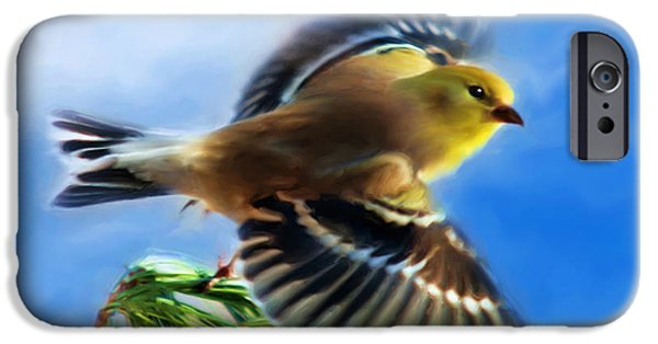 Soaring Paintings iPhone Cases - Bird Wings Of Song iPhone Case by Christina Rollo