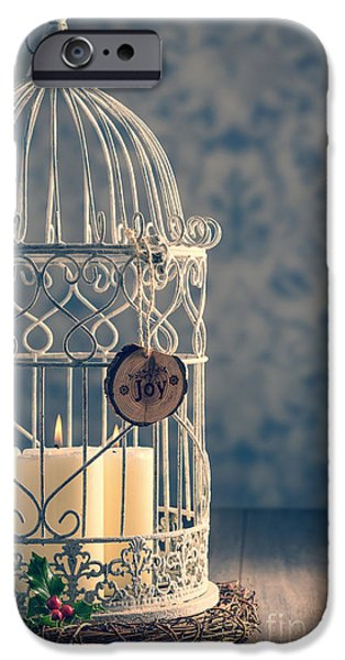 Christmas Eve iPhone Cases - Birdcage Candles iPhone Case by Amanda And Christopher Elwell