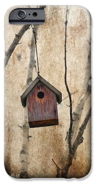Birdhouse iPhone Cases - Birdhouse iPhone Case by Rebecca Cozart