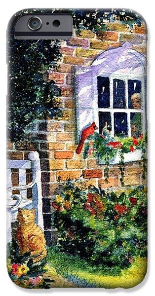 Marilyn Smith Paintings iPhone Cases - Birds Eye View iPhone Case by Marilyn Smith