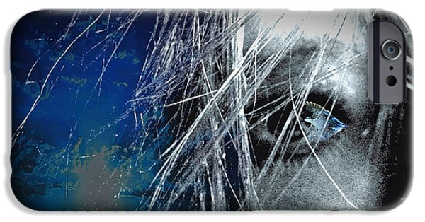 Artistic Portraiture iPhone Cases - Birds Eye View iPhone Case by Susan Maxwell Schmidt