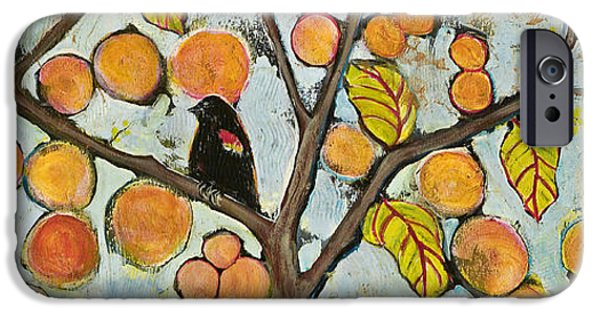 Black Bird iPhone Cases - Birds in Paris Landscape iPhone Case by Blenda Studio
