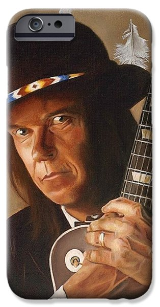 Neil Young Paintings iPhone Cases - Birds iPhone Case by Jena Rockwood