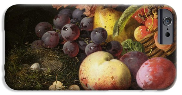 Pare iPhone Cases - Birds Nest Butterfly And Fruit Basket iPhone Case by Edward Ladell