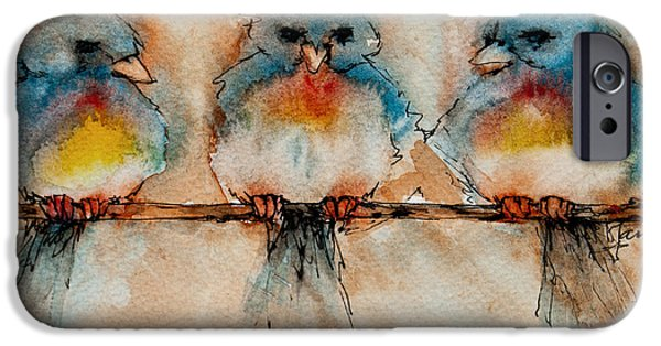 Freimann iPhone Cases - Birds Of A Feather iPhone Case by Jani Freimann