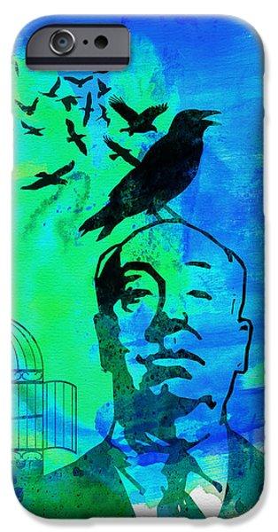 Film iPhone Cases - Birds Watercolor iPhone Case by Naxart Studio