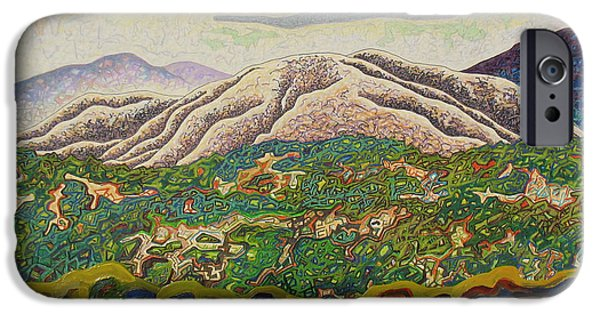 Spectrum Mixed Media iPhone Cases - Birdseye landscape #4 iPhone Case by Dale Beckman