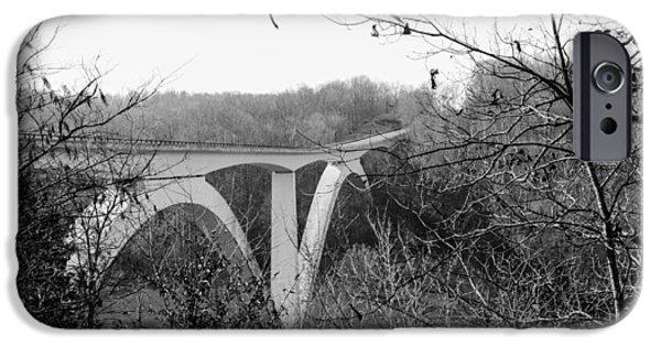 Natchez Trace Parkway iPhone Cases - Birdsong Hollow Bridge iPhone Case by Scott Carr