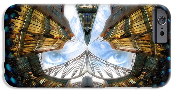 Mounds Mixed Media iPhone Cases - Birmingham Bull Ring Eyes In The Sky iPhone Case by Neil Finnemore
