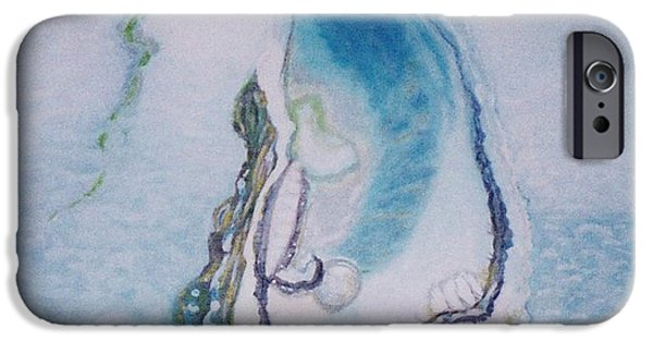 Paiting iPhone Cases - Birth pearls iPhone Case by Bozena Simeth