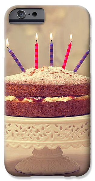 Birthday Cake iPhone Case by Amanda And Christopher Elwell