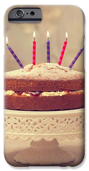 Birthday Cake iPhone Case by Amanda And Christopher Elwell