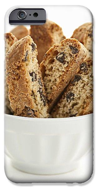Biscotti cookies in bowl iPhone Case by Elena Elisseeva