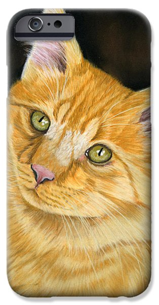 Animal Cards Pastels iPhone Cases - Biscuit iPhone Case by Sarah Dowson