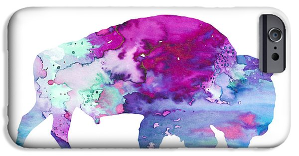 Bison iPhone Cases - Bison 4 iPhone Case by Luke and Slavi