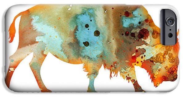 Bison iPhone Cases - Bison 5 iPhone Case by Luke and Slavi