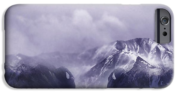 Winter Storm Digital iPhone Cases - Bison Country iPhone Case by Terril Heilman