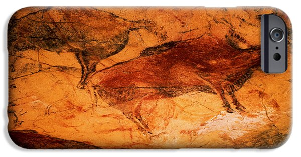 Prehistoric iPhone Cases - Bison From The Caves At Altimira, C.15000 Bc Cave Painting iPhone Case by Prehistoric